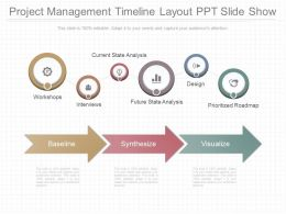 App Project Management Timeline Layout Ppt Slide Show