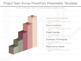 App Project Team Survey Powerpoint Presentation Templates