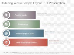 App Reducing Waste Sample Layout Ppt Presentation