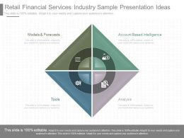 App Retail Financial Services Industry Sample Presentation Ideas