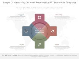 App Sample Of Maintaining Customer Relationships Ppt Powerpoint Templates
