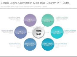 App Search Engine Optimization Meta Tags Diagram Ppt Slides