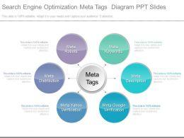 App Search Engine Optimization Meta Tags Diagram Ppt Slides