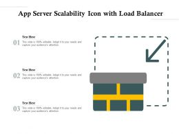 App Server Scalability Icon With Load Balancer