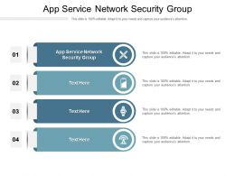 App Service Network Security Group Ppt Powerpoint Presentation File Icon Cpb