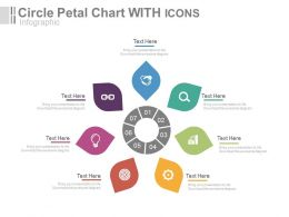 app Seven Staged Circle Petal Chart With Icons Flat Powerpoint Design