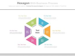 app Six Hexagons With Business Process Analysis Flat Powerpoint Design