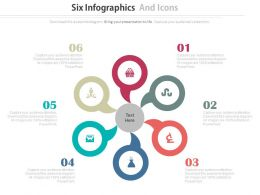 app Six Infographics And Icons For Business Agenda Analysis Flat Powerpoint Design