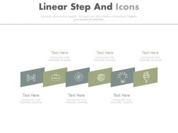 app Six Staged Linear Steps And Icons Diagram Flat Powerpoint Design