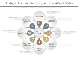 App Strategic Account Plan Diagram Powerpoint Slides