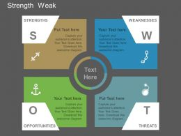 app Swot For Strength And Weakness Flat Powerpoint Design