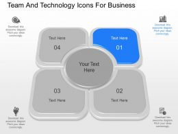 app Team And Technology Icons For Business Powerpoint Template