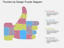 app Thumbs Up Design Puzzle Diagram Flat Powerpoint Design