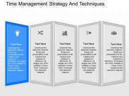 app Time Management Strategy And Techniques Powerpoint Template
