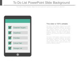 App To Do List Powerpoint Slide Background