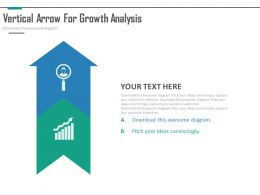 app_two_staged_vertical_arrow_for_growth_analysis_flat_powerpoint_design_Slide01