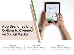 App User Checking Options To Connect On Social Media