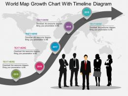 app_world_map_growth_chart_with_timeline_diagram_flat_powerpoint_design_Slide01