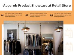 Apparels Product Showcase At Retail Store