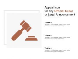 Appeal Icon For Any Official Order Or Legal Announcement