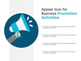 Appeal Icon For Business Promotion Activities