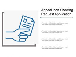 Appeal Icon Showing Request Application