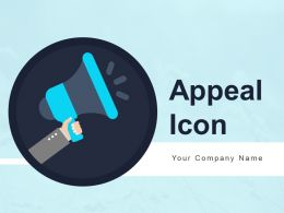Appeal Icon Showing Request Application Business Promotion Activities Powerpoint Presentation Slides