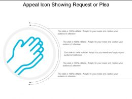 Appeal Icon Showing Request Or Plea