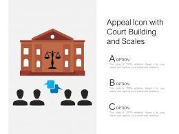 Appeal Icon With Court Building And Scales