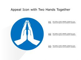 Appeal Icon With Two Hands Together