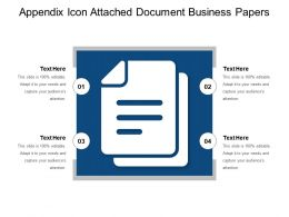 Appendix Icon Attached Document Business Papers