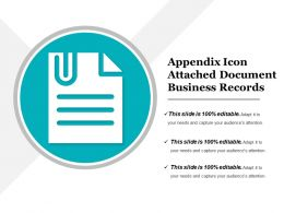 Appendix Icon Attached Document Business Records