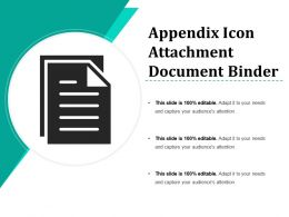 Appendix Icon Attachment Document Binder