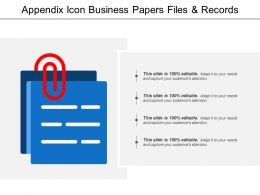 Appendix Icon Business Papers Files And Records