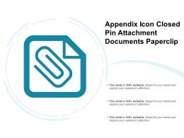 Appendix Icon Closed Pin Attachment Documents Paperclip