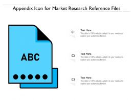 Appendix Icon For Market Research Reference Files