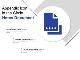Appendix Icon In The Circle Notes Document
