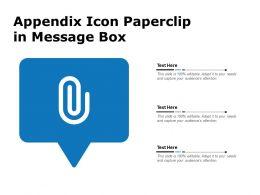 Appendix Icon Paperclip In Message Box