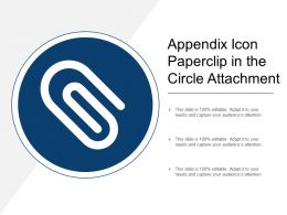 Appendix Icon Paperclip In The Circle Attachment