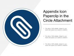 Appendix Icon Paperclip In The Circle Attachment