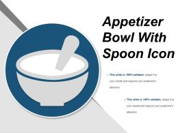 Appetizer Bowl With Spoon Icon