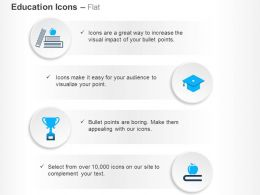 Apple Books Graduation Cap Trophy Ppt Icons Graphics
