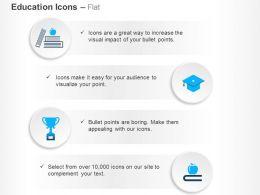 Apple Books Graduation Cap Trophy Ppt Icons Graphics