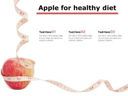 Apple For Healthy Diet
