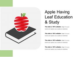 Apple Having Leaf Education And Study