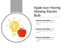 Apple Icon Having Glowing Electric Bulb