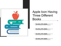 Apple Icon Having Three Different Books