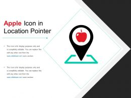 Apple Icon In Location Pointer