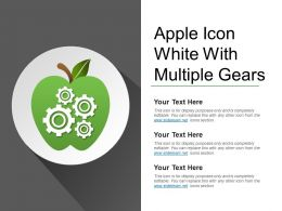 Apple Icon White With Multiple Gears