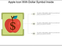 Apple Icon With Dollar Symbol Inside